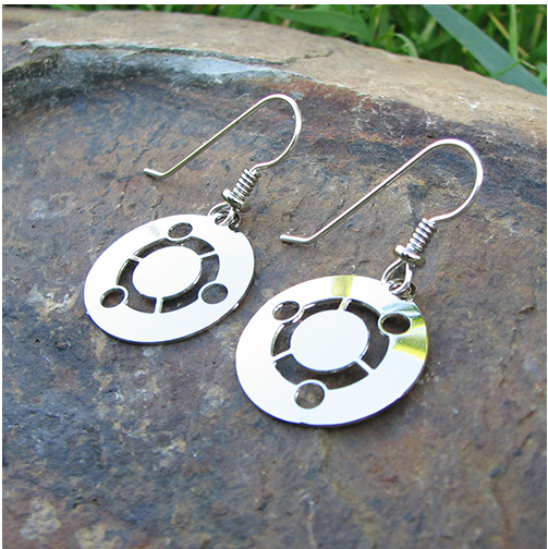 Silver Ubuntu earrings from Boutique Academia