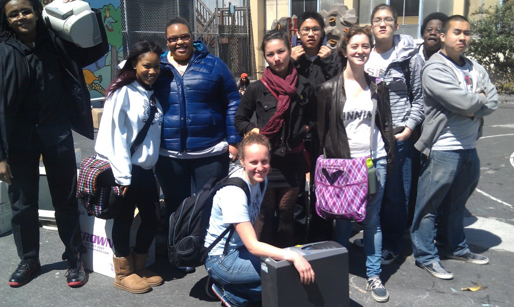 Some of the Gateway High School students who helped